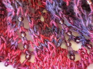 Pattern: Aeolian shawl. Bead detail.