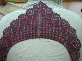 Aeolian Berries shawl