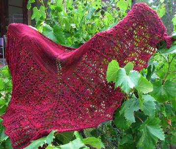 Pattern: Brangian Shawl Yarn: Wasabi from Saffron Dyeworks