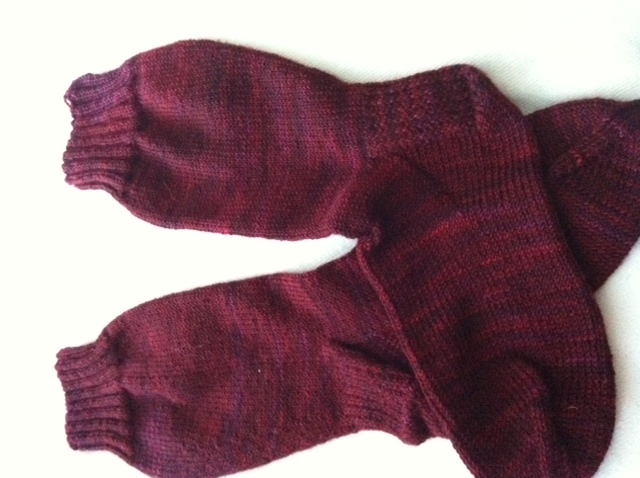 Handknitted red socks