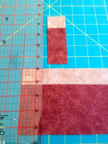 Cutting wide strips